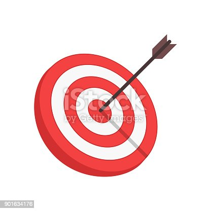 istock Vector target and arrow. 901634176