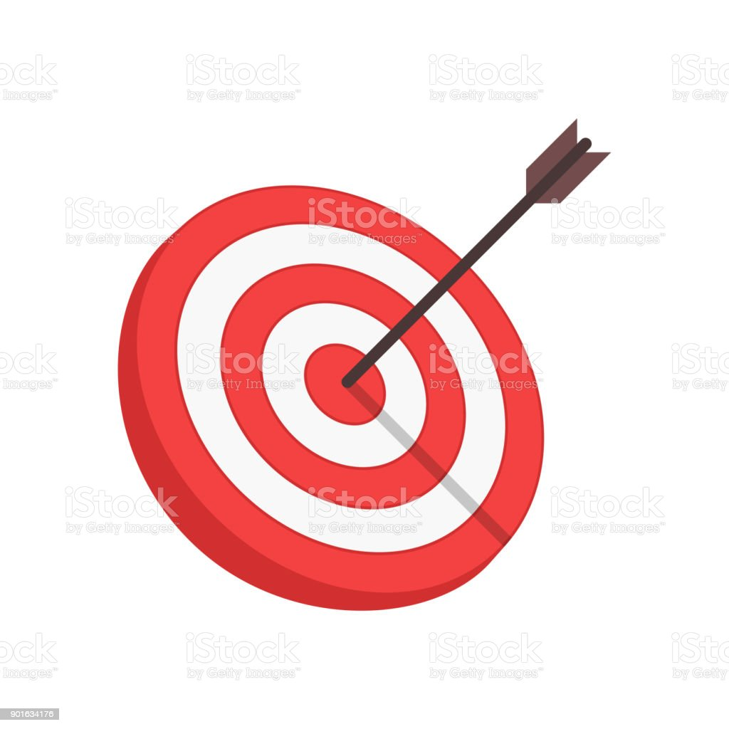Vector target and arrow. vector art illustration