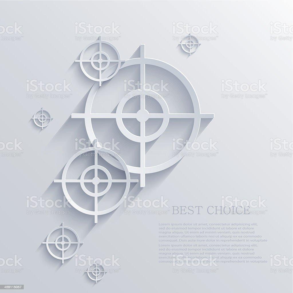 Vector target background. Eps10 vector art illustration