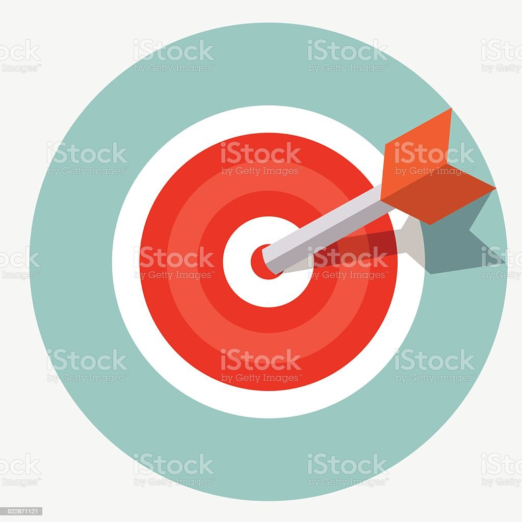 Vector target icon vector art illustration