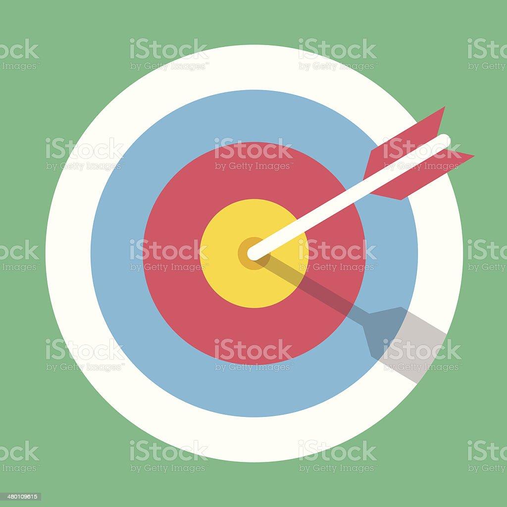 Vector Target Marketing Icon royalty-free stock vector art