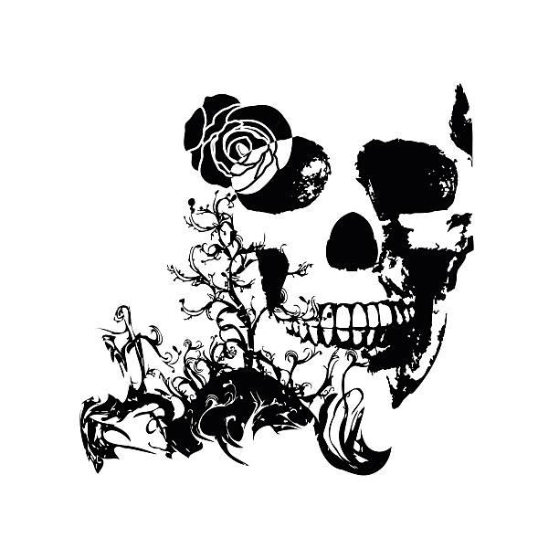 vektor tatoo - totenkopf tattoos stock-grafiken, -clipart, -cartoons und -symbole