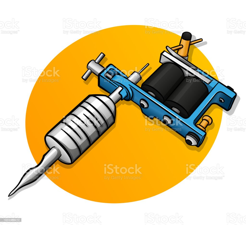 Tattoo Machine - Illustration - Free Transparent PNG Clipart Images Download