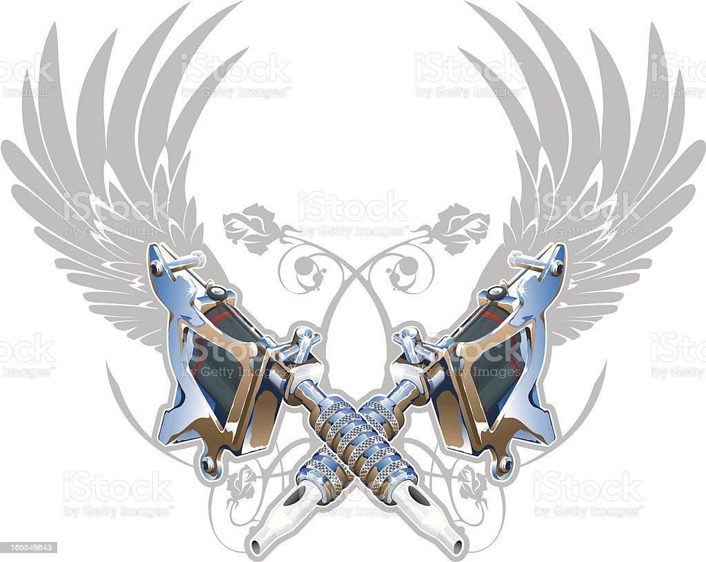 Vector Tattoo Machine royalty-free stock vector art