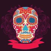 Vector  Tattoo Skull Illustration