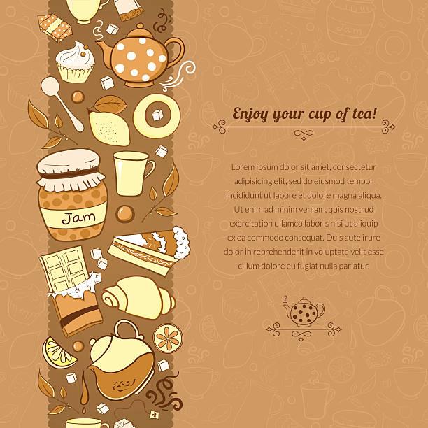 Vector tea illustration for template card vector art illustration