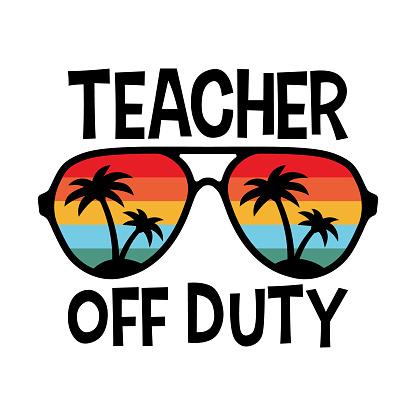 Vector Teacher off Duty Illustration