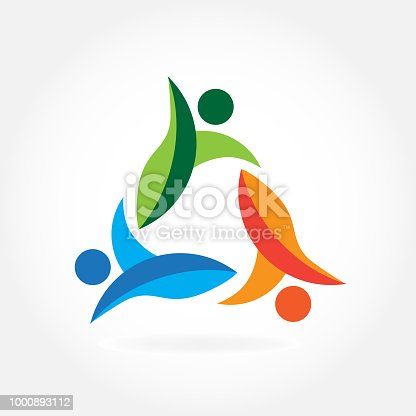 Vector Teamwork Friendship Successful Connected Unity People Icon Id