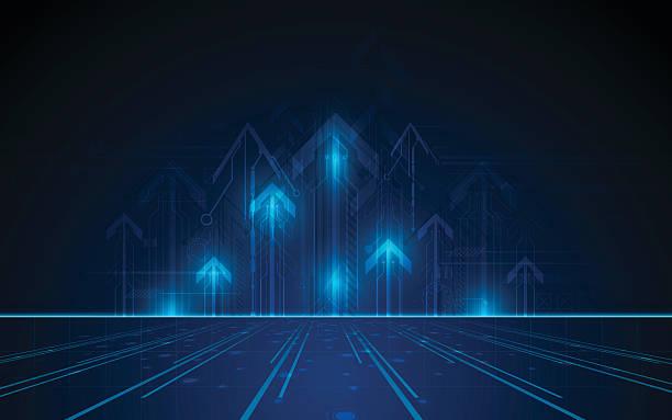 vector tech networking innovation concept traffic design background – Vektorgrafik
