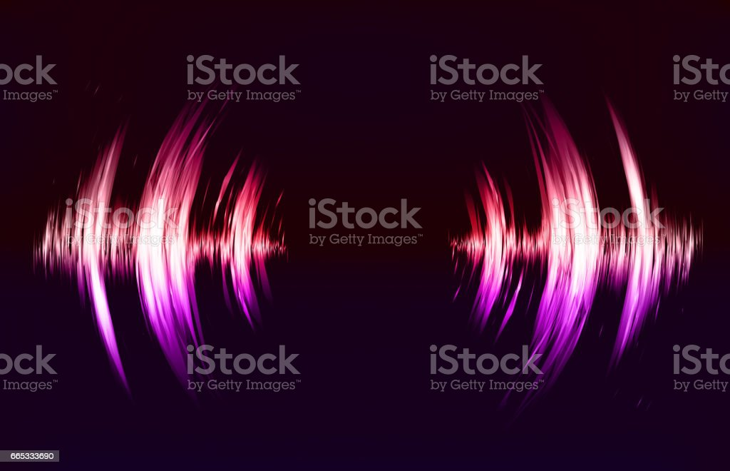 Vector techno background with crcular sound vibration. Resonance. Pulse. cardiogram vector art illustration