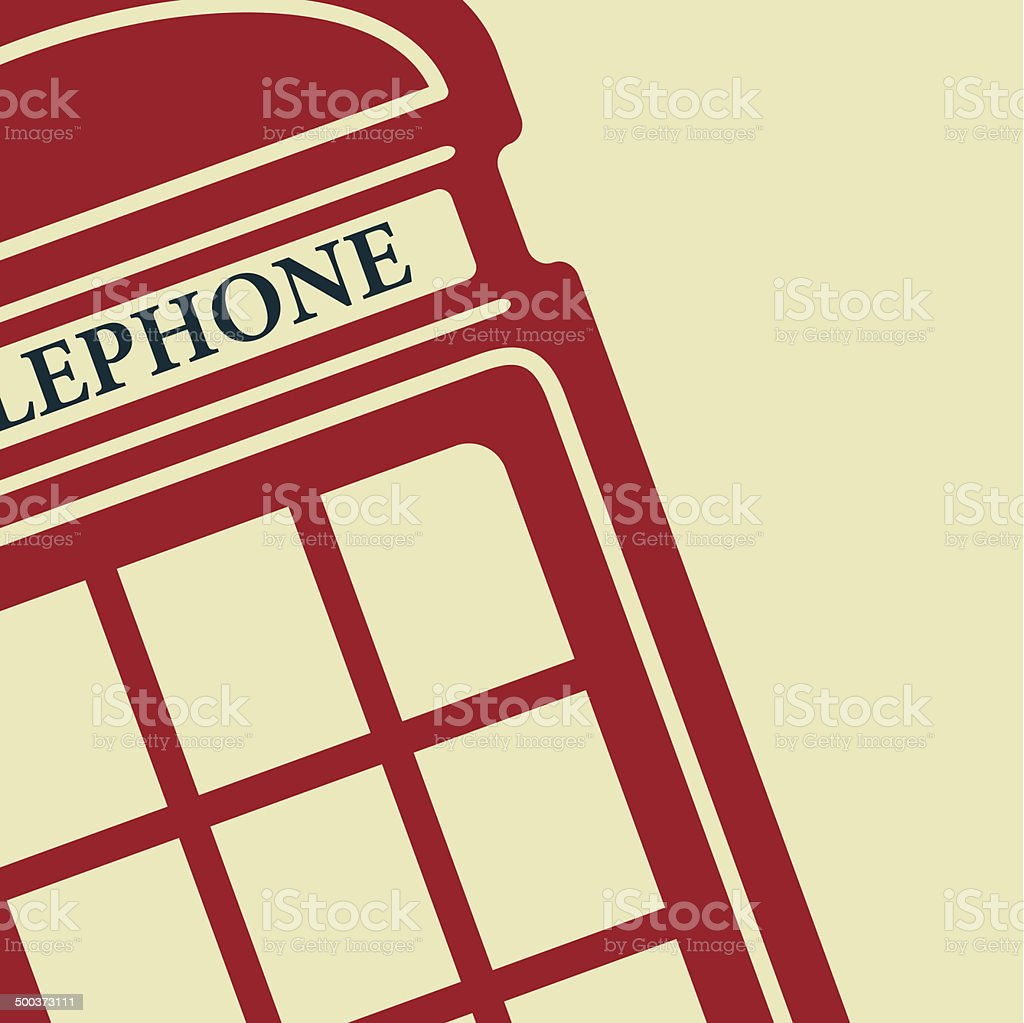 Vector telephone box icon. Eps10 vector art illustration