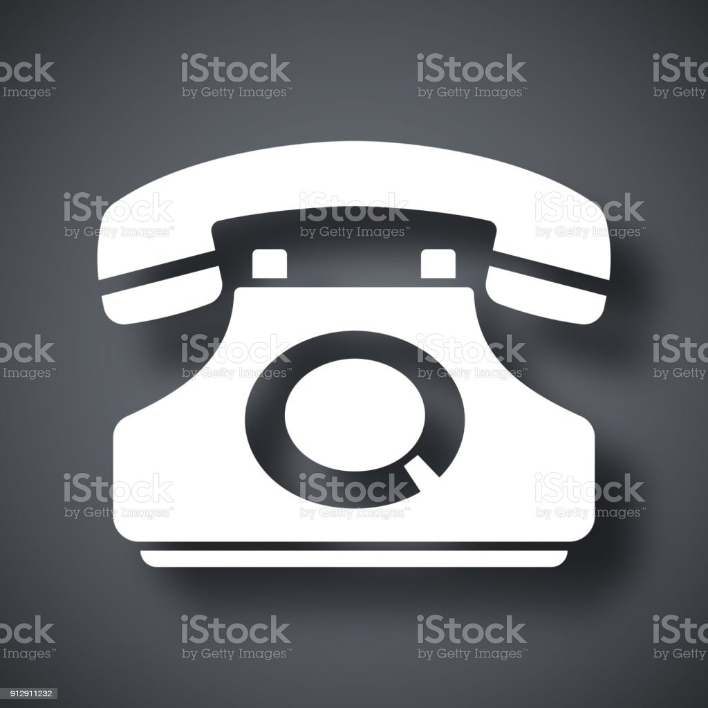 Vector telephone icon vector art illustration