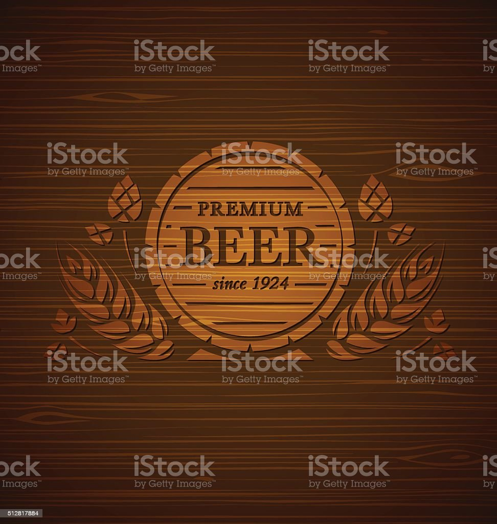 Vector template beer emblem vector art illustration