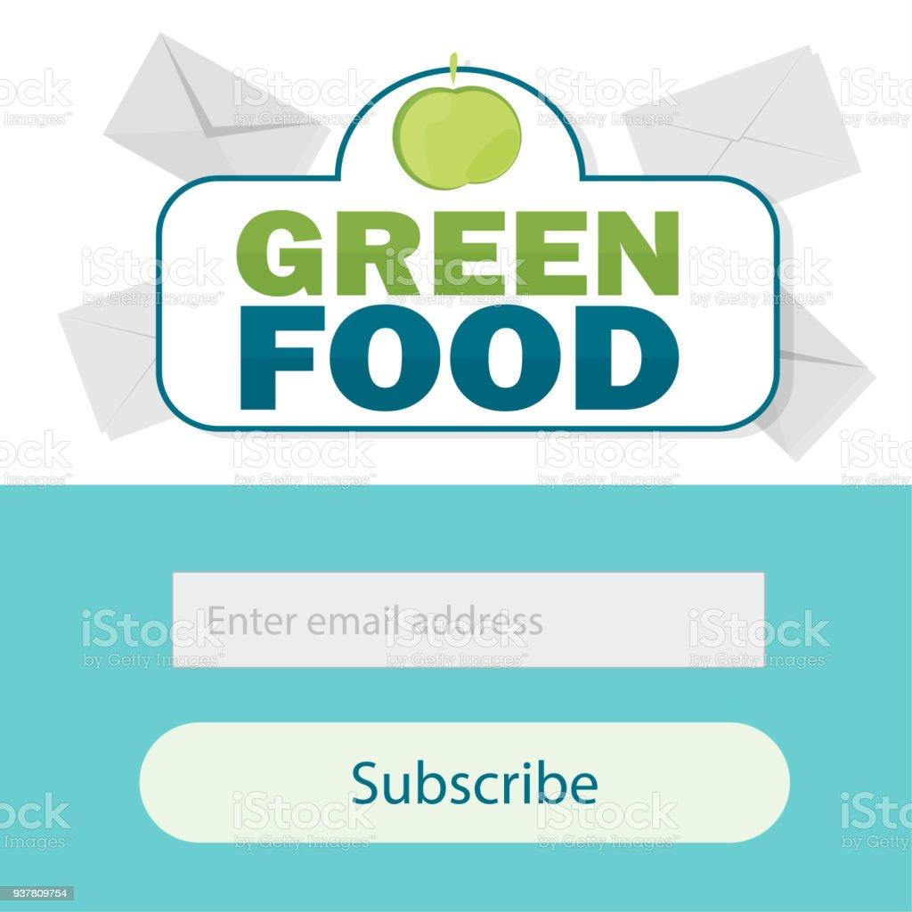 Vektor Vorlage Email Abonnieren Formular Für Website Emailbrief