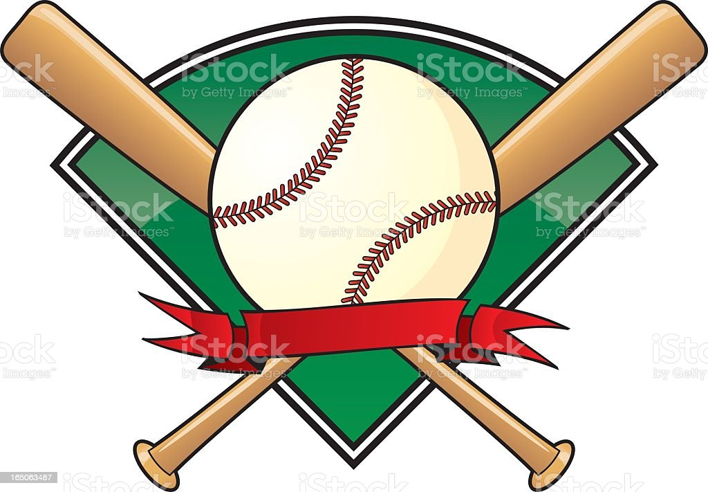 A vector template for a baseball vector art illustration