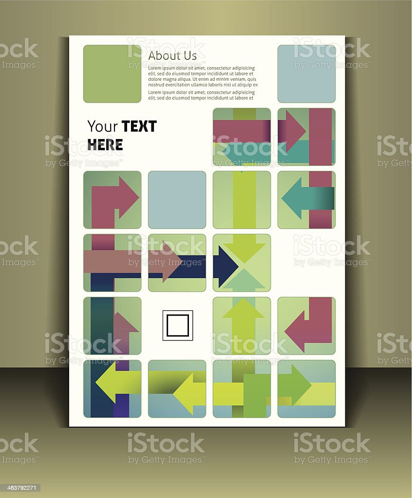 Vector template for a business brochure cover  royalty-free stock vector art