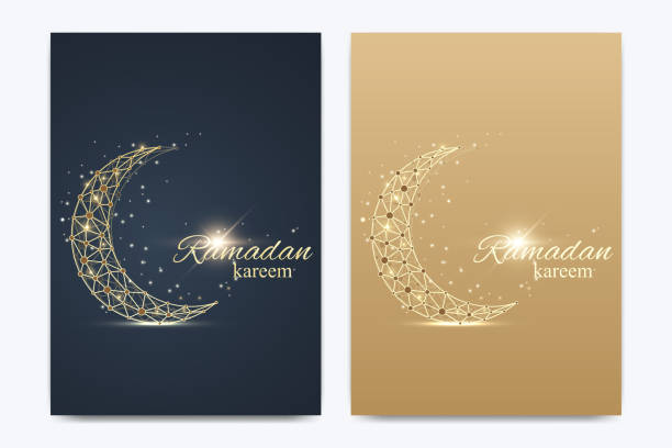 vector template for brochure, leaflet, flyer, advert, cover, catalog, poster, magazine or annual report. ramadan kareem background. golden moon. eid mubarak celebration. vector illustration - ramadan stock illustrations, clip art, cartoons, & icons