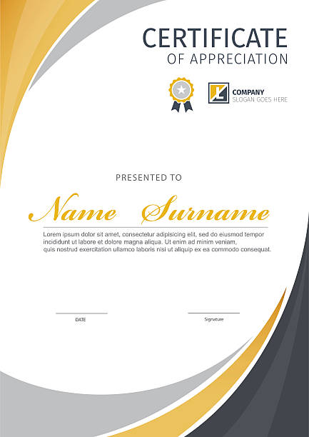 vector template for certificate. - certificate and awards frames stock illustrations, clip art, cartoons, & icons