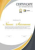 Vector template for certificate.