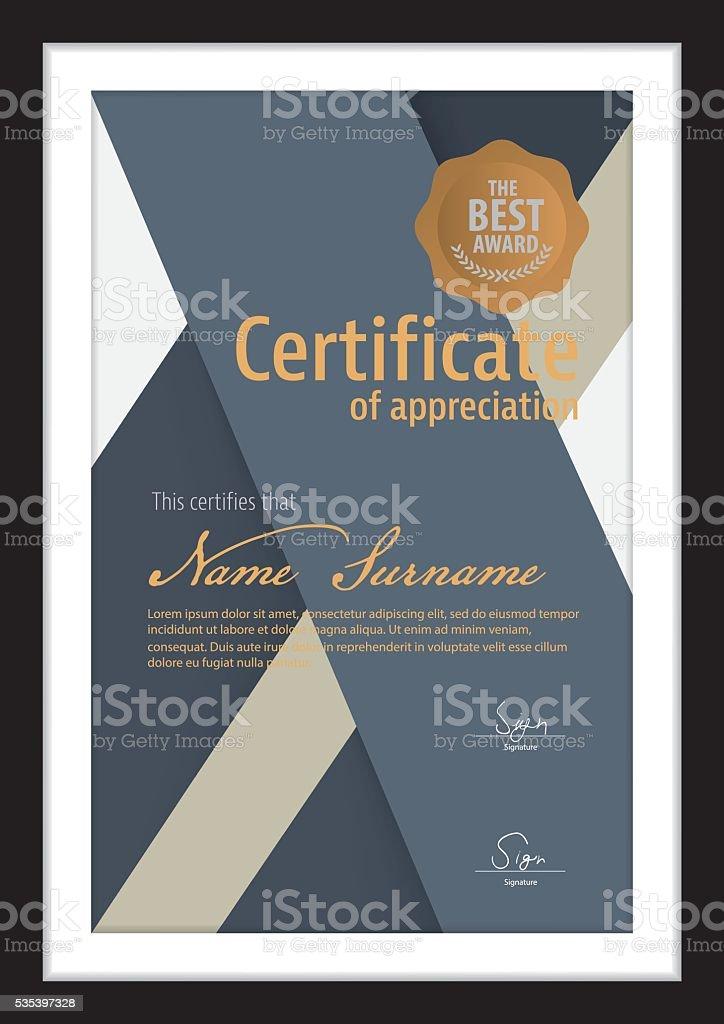 Вектор шаблон для сертификата современный диплом Сток Вектор  Вектор шаблон для сертификата современный диплом Сток Вектор Стоковая фотография