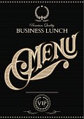 vector template for cover of the menu