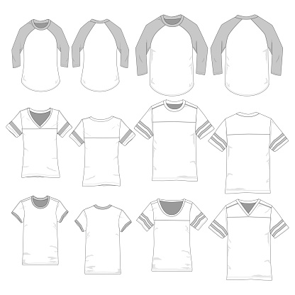 Vector template for sporty style Tees