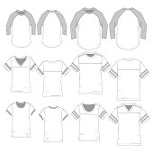 Vector template for Sporty Unisex style Tees