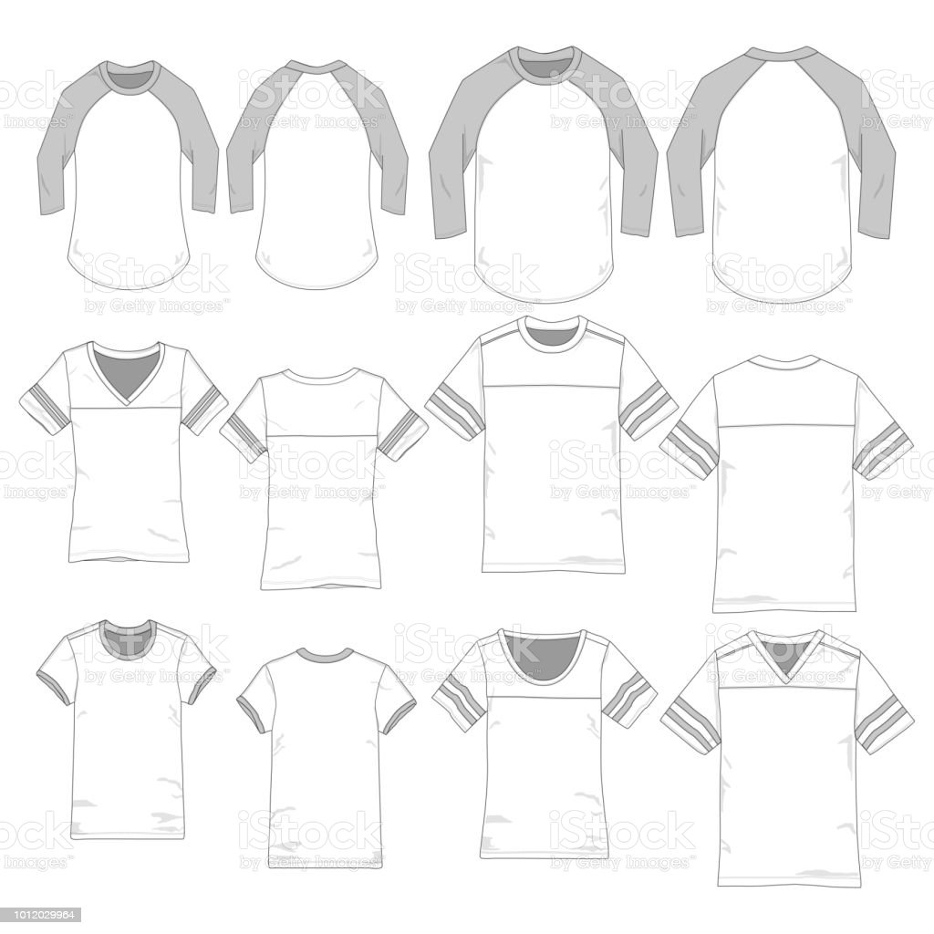 Vector template for sporty style Tees vector art illustration