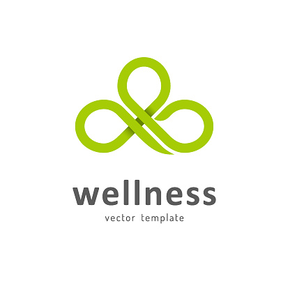 Vector template for wellness club