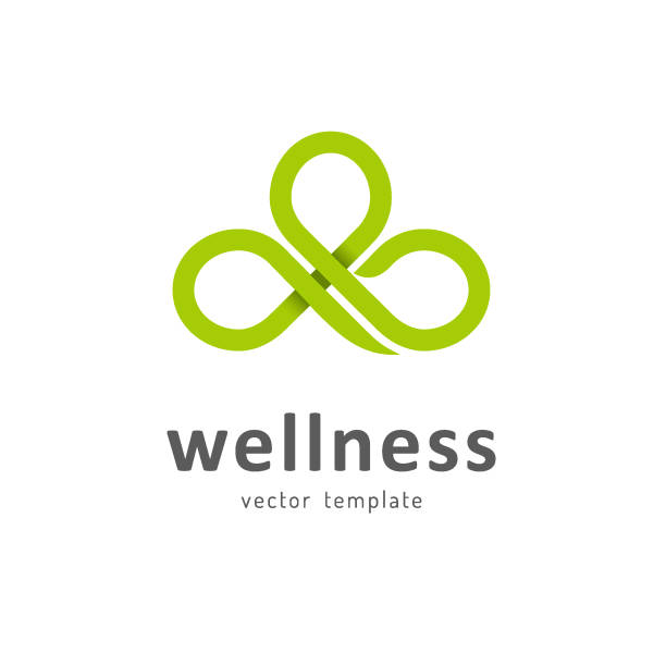 vektor vorlage für wellnessclub - wellness stock-grafiken, -clipart, -cartoons und -symbole
