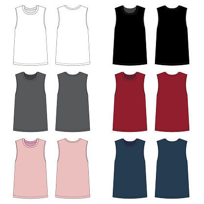 Vector template for Women's Fashion tops