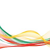 Vector template linear background with tricolor to celebrate October 25 - Constitution Day of Lithuania