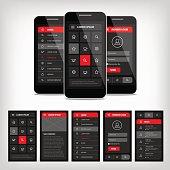 vector template mobile user interface