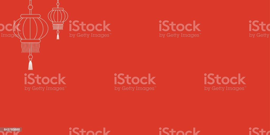 Vector template of a Chinese New Year red card or envelope with traditional asian lanterns. royalty-free vector template of a chinese new year red card or envelope with traditional asian lanterns stock vector art & more images of art