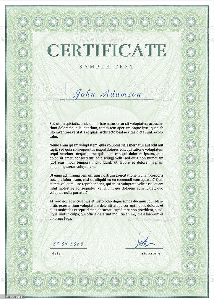 Vector De Plantilla De Certificado Detallado Illustracion Libre de ...