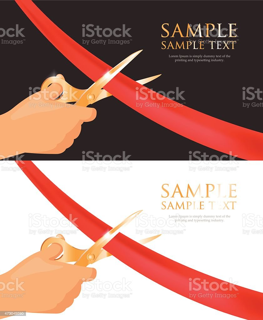 Vector Template Of Grand Opening Invitation Cards stock vector art – Grand Opening Invitation Cards