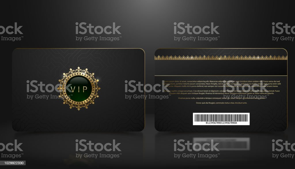 Vector template of membership or loyalty black vip card with luxury vector template of membership or loyalty black vip card with luxury geometric pattern front and maxwellsz