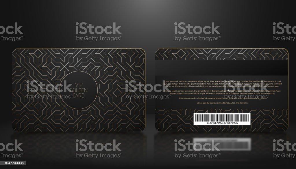 Vektor Vorlage Mitgliedschaft Oder Schwarzen Vip Kundenkarte Mit