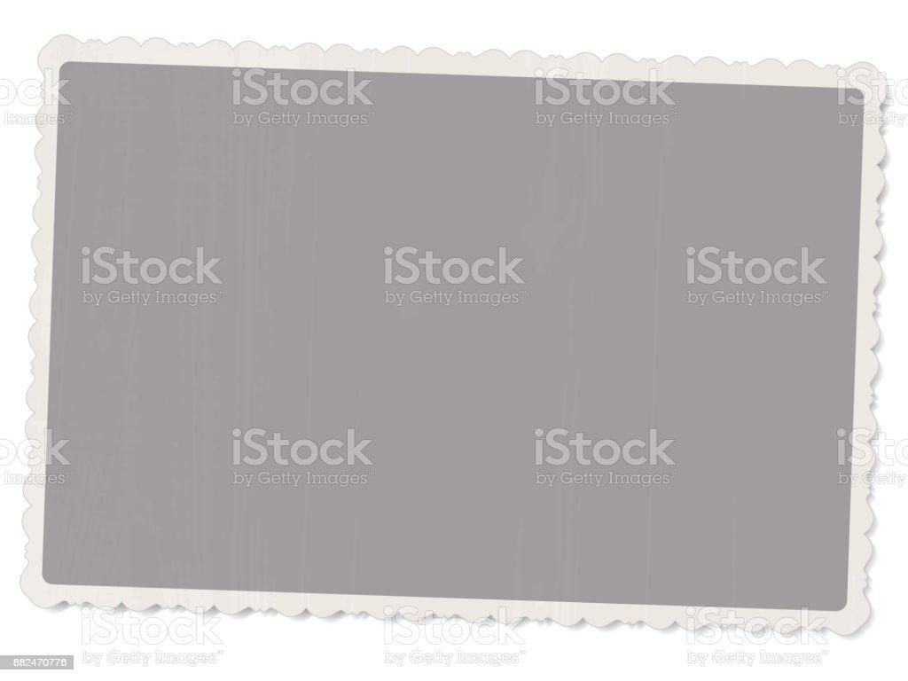 photo vintage vieux avec des bords à motifs isolé sur fond blanc avec ombre pour la conception du modèle Vector - Illustration vectorielle