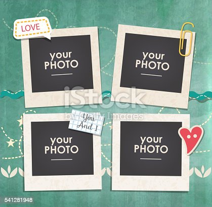 istock Vector template photo frame 541281948