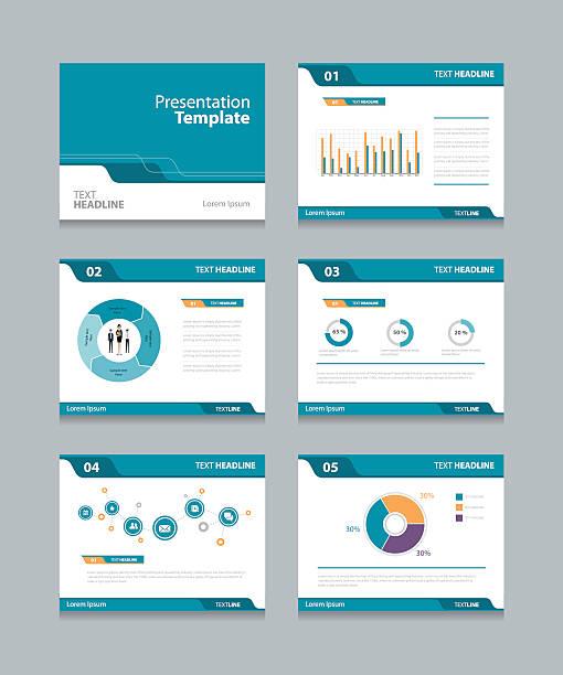 Vektor Vorlage Präsentationsfolien Hintergrund-design – Vektorgrafik