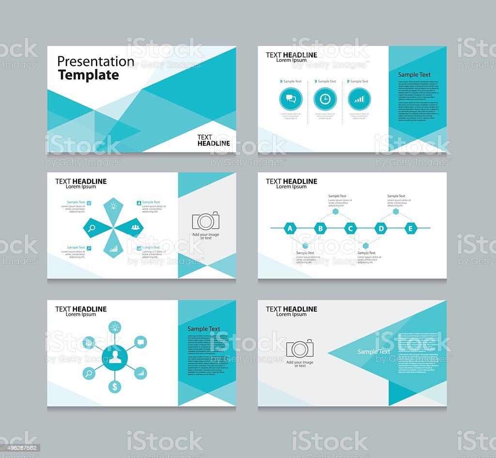 vector template presentation slides background design stock vector
