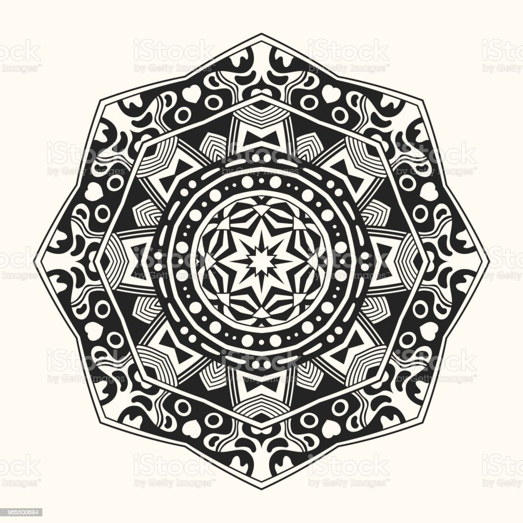 vector template round ornament stock vector art more images of
