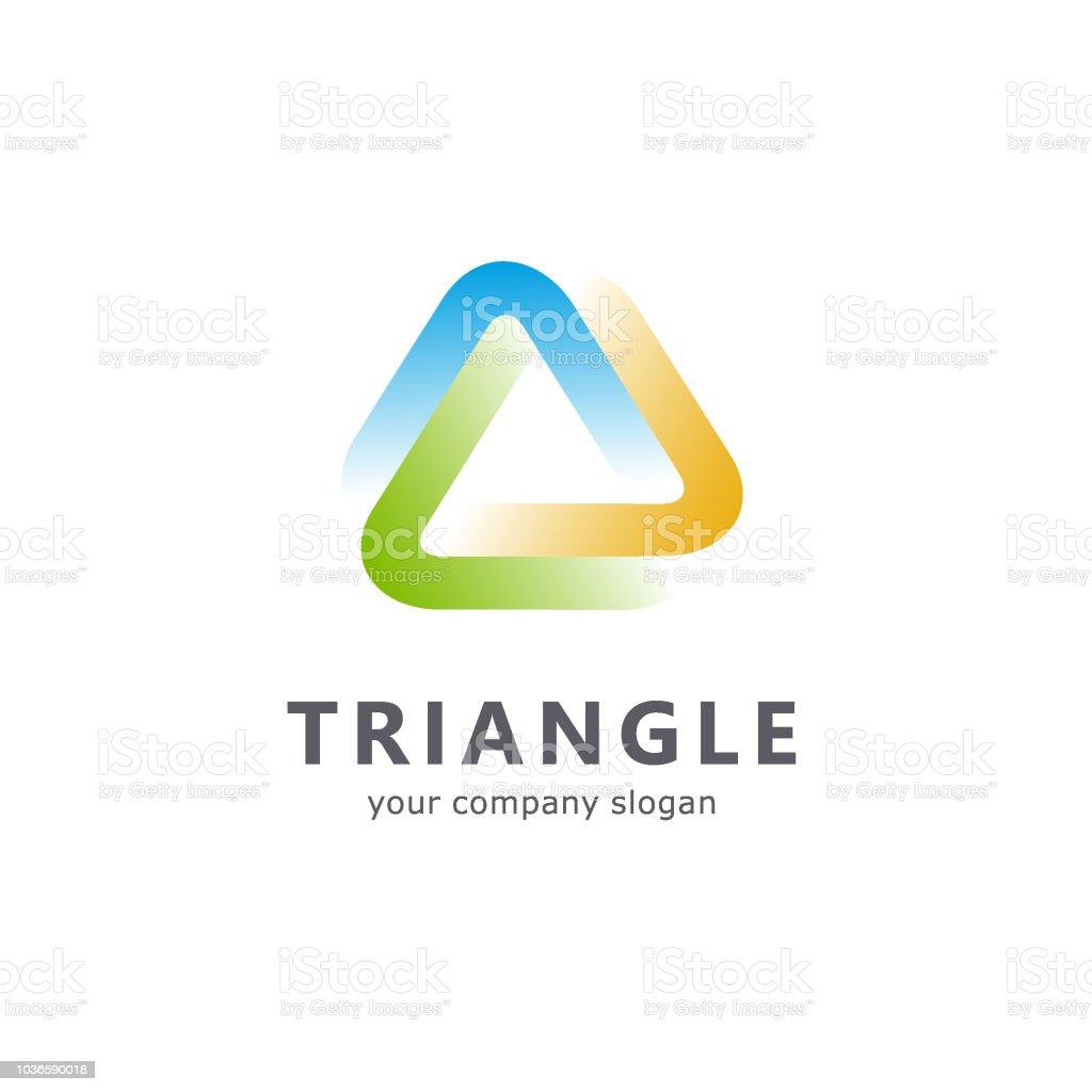 Vector template triangle icon vector art illustration