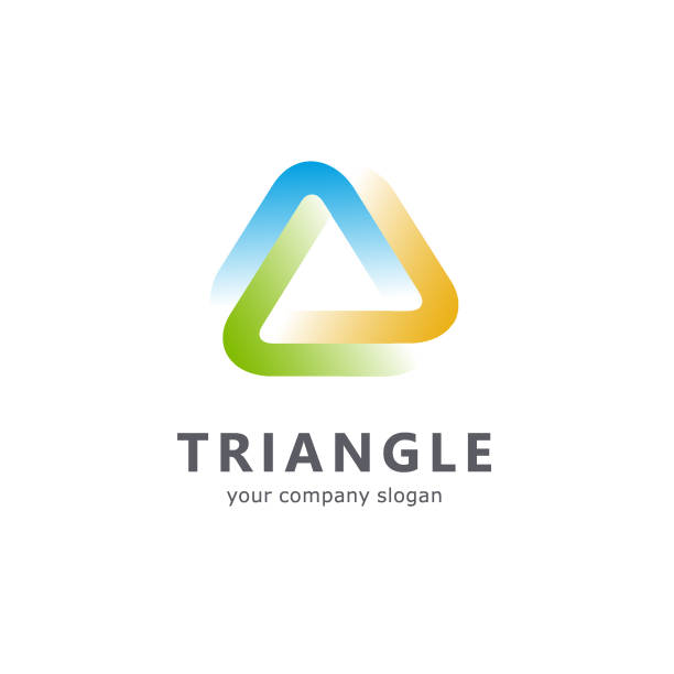 stockillustraties, clipart, cartoons en iconen met vector sjabloon driehoekje - drie personen