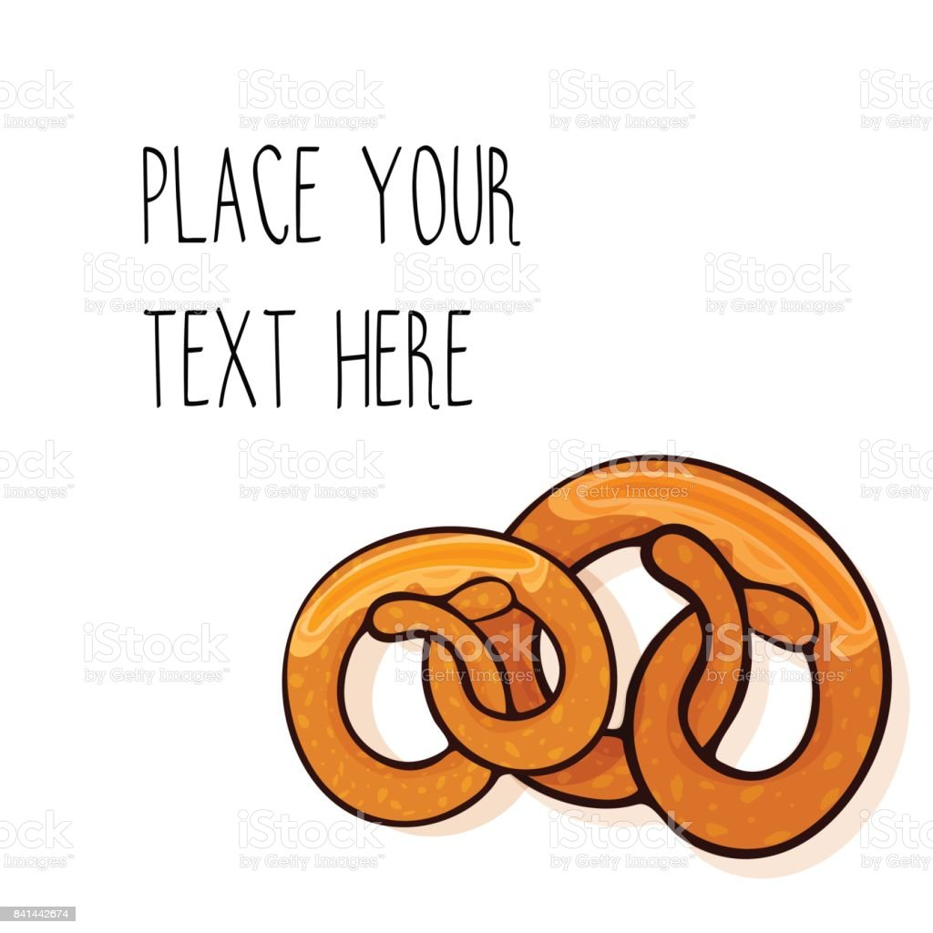 Vector template with  pretzels for fast food business. vector art illustration