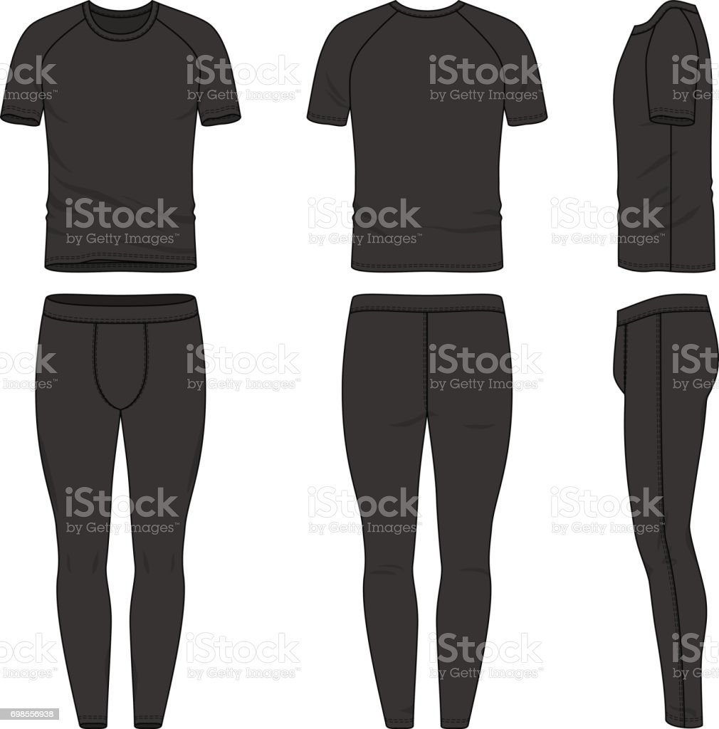 Vector Templates Of Tshirt And Jogging Pants Stock Vector Art & More ...