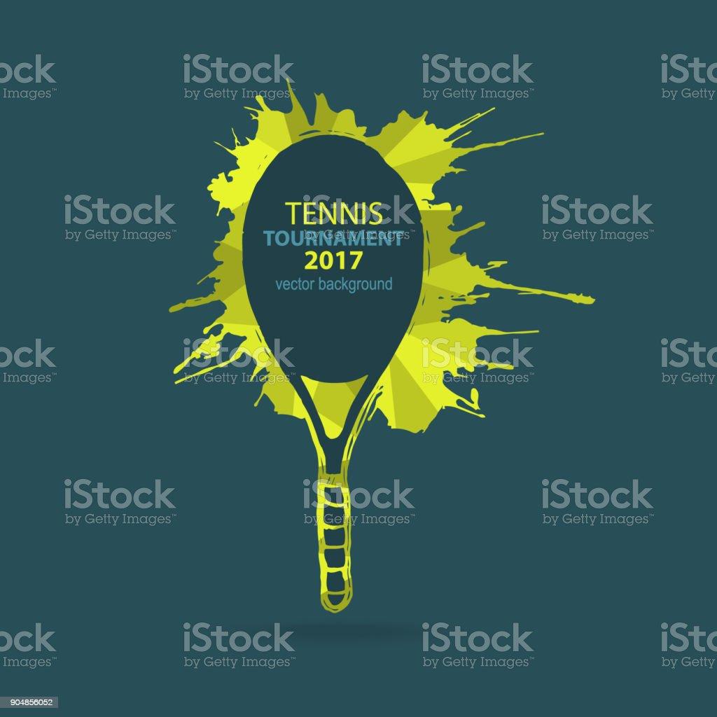 ベクトル テニス。要素、デザインのスケッチします。 ベクターアートイラスト