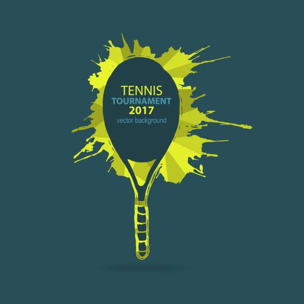vector tennis. element of design, sketch. - tennis stock illustrations, clip art, cartoons, & icons