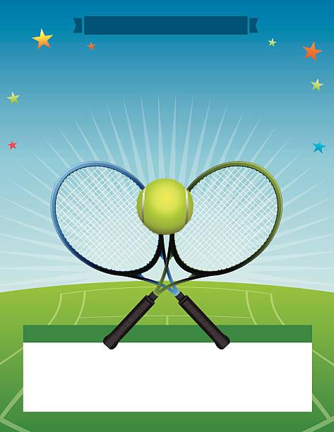 vektor-tennis tournament illustration - wimbledon stock-grafiken, -clipart, -cartoons und -symbole
